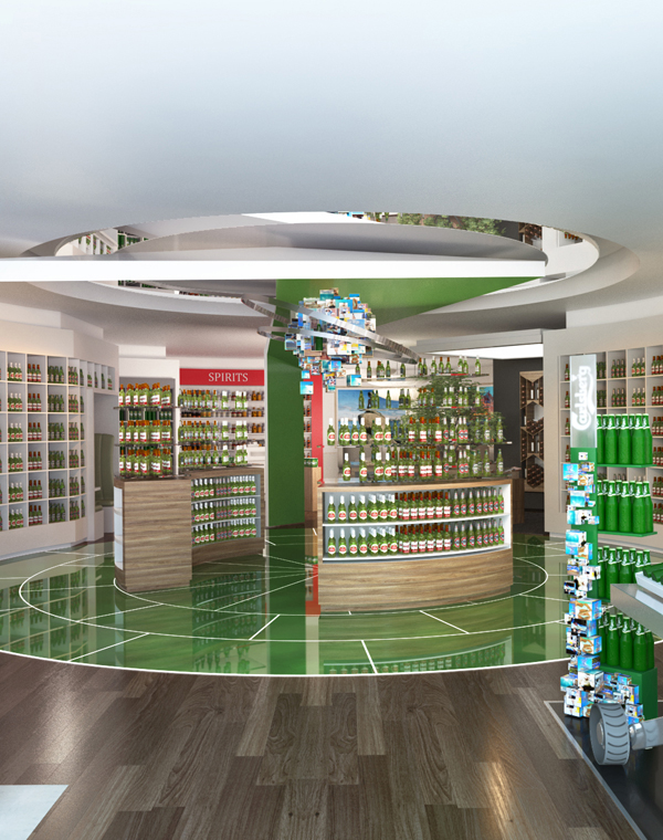 Fuchsia Creative designed the Carlsberg Flagship store