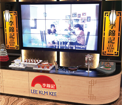 Fuchsia Creative designed and built exhibition stand for Lee Kum Kee for World Gourmet Summit