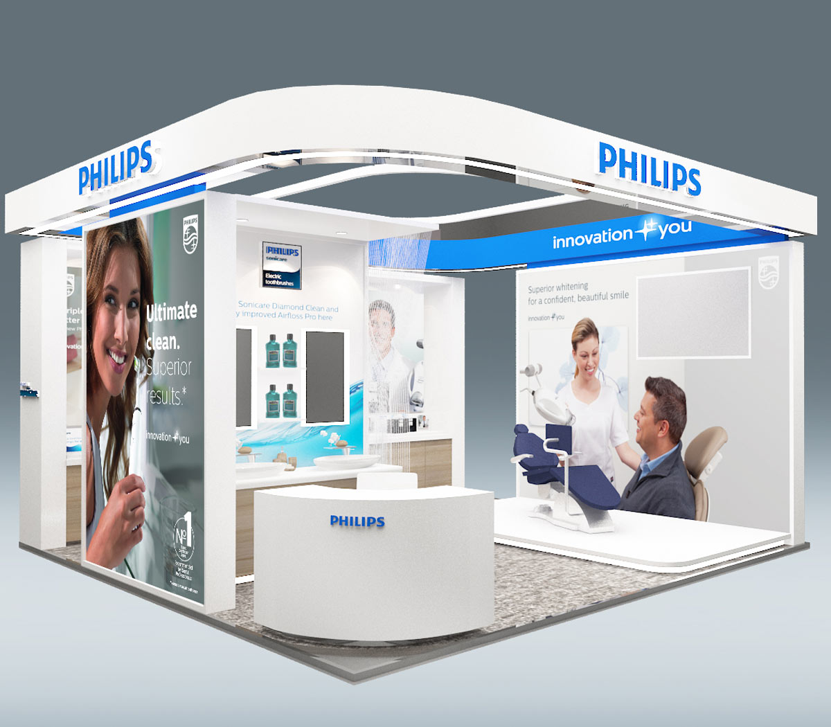 Philips Oral Healthcare Exhibition Stand Design and Build by