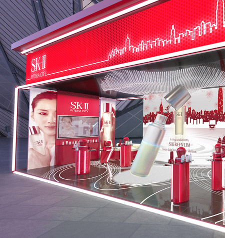 Cosmetic Store Displays Design and Built for SK-II by Fuchsia Creative Singapore